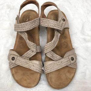 Taos Walking Sandals Trulie Cork Wedge